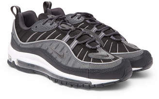 Nike 98 Se Mesh, Leather And Suede Sneakers