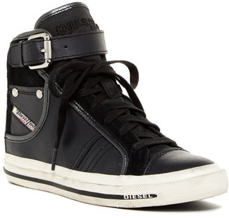 Diesel Magnete Bucklet Mid Sneaker $200 thestylecure.com