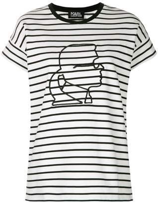 Karl Lagerfeld head T-shirt
