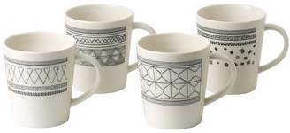 ED Ellen Degeneres by Royal Doulton ED Geometric Porcelain Mugs (Set of 4)