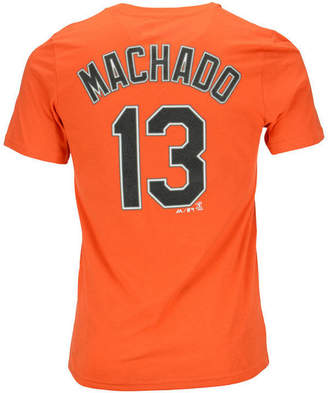 Majestic Manny Machado Baltimore Orioles Official Player T-Shirt, Big Boys (8-20)