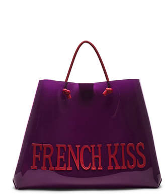 Alberta Ferretti French Kiss Large Tote in Purple | FWRD