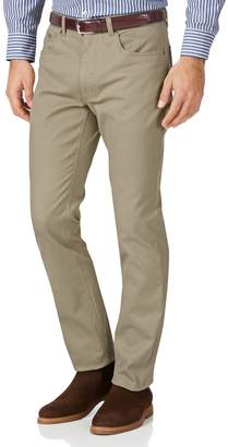 Charles Tyrwhitt Stone Slim Fit Five Pocket Bedford Corduroy Cotton Tailored Pants Size W32 L32