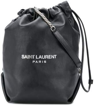 Saint Laurent black Teddy bucket bag