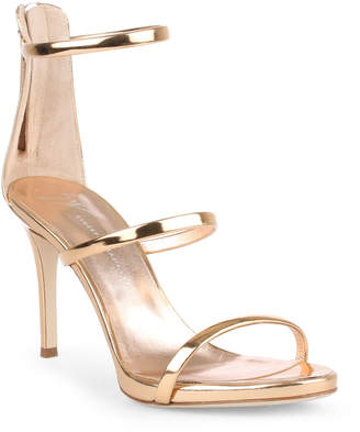 Giuseppe Zanotti Harmony 90 rose gold metallic sandals