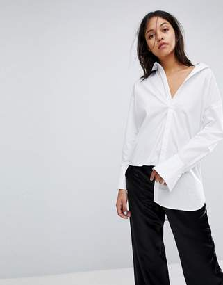 Gestuz Long Shirt With Asymmetric Detail