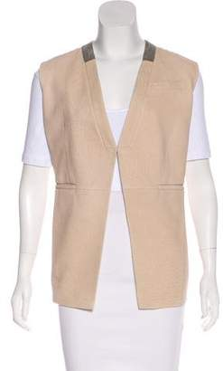 Brunello Cucinelli Monili-Trimmed Leather Vest