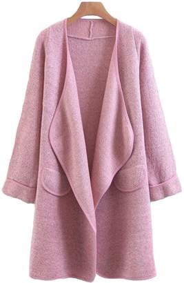 Goodnight Macaroon 'Tami' Marl Knit Wrapped Open Cardigan (4 Colors)