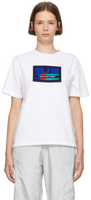 Sjyp White Blueprint T-Shirt