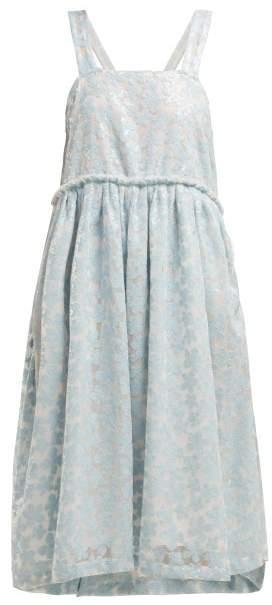 a650096fd2 Shrimps - Lucia Sequin Mesh Midi Dress - Womens - Light Blue