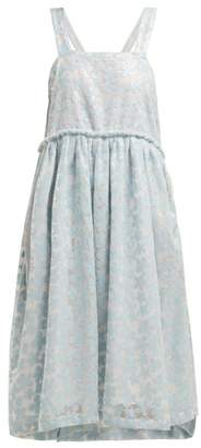 Shrimps Lucia Sequin Mesh Midi Dress - Womens - Light Blue