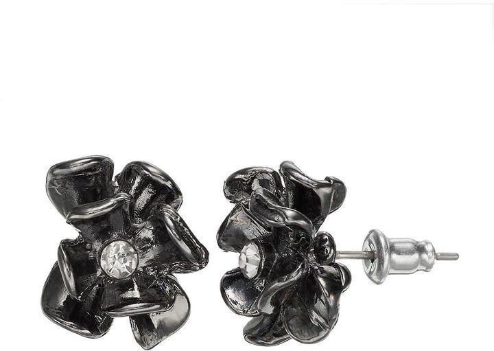 Vera Wang Simply vera flower stud earrings