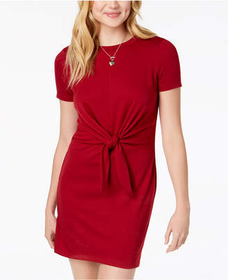 BCX Juniors' Tie-Front A-Line Dress