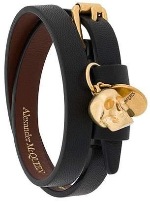 Alexander McQueen Skull double-wrap bracelet