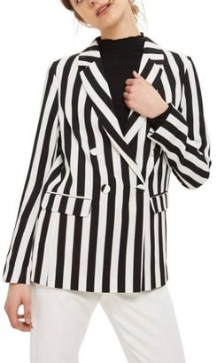 Women's Topshop Ella Stripe Suit Jacket $125 thestylecure.com