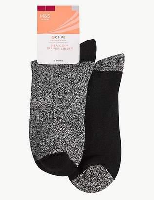Marks and Spencer HeatgenTM 2 Pair Pack Trainer Liner Socks