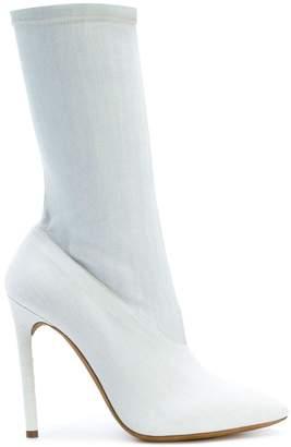 Yeezy bleached denim boots