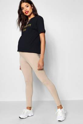 boohoo Maternity Ultimate High Waisted Jersey Legging