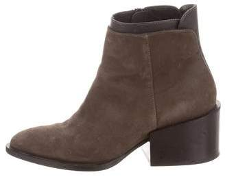 Vince Pointed-Toe Nubuck Ankle Boots