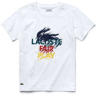 Lacoste Boys' Colored Print Jersey T-Shirt