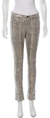 Rag & Bone Metallic Mid-Rise Jeans