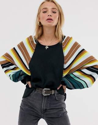 We The Free By Free People by Free People rainbow volume sleeve top