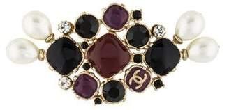 Chanel Gripoix Pearl Crystal Brooch