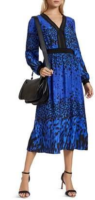 Ted Baker Maryema Topaz Mixed-Print Midi Dress