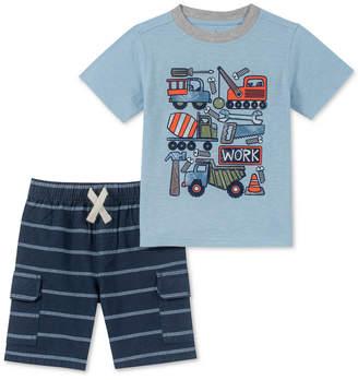 Kids Headquarters Baby Boys 2-Pc. Graphic-Print T-Shirt & Striped Shorts Set