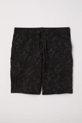 H&M Cargo-pocket Sports Shorts - Black