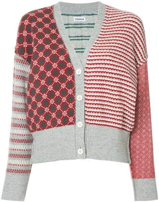 Coohem contrast embroidered cardigan