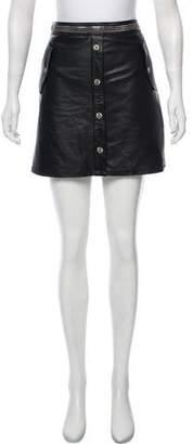 The Kooples Embellished Leather Mini Skirt