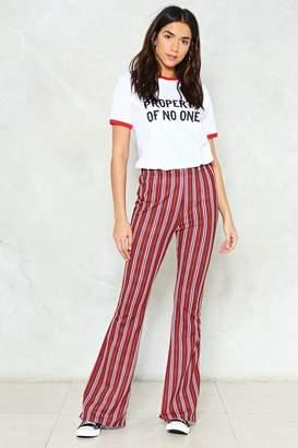 Nasty Gal Tender Loving Flare Striped Pants