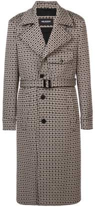 Neil Barrett herringbone trench coat