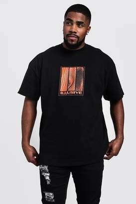 boohoo Big & Tall Illusive Print T-Shirt
