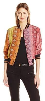 Just Cavalli Women's Rainbow Print Bomber
