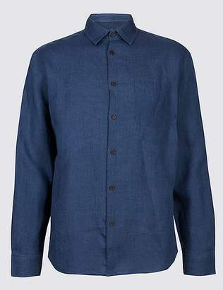 Marks and Spencer 2in Longer Pure Linen Shirt with Pocket