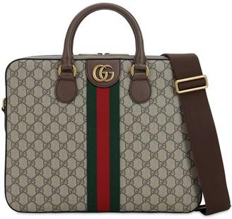 Gucci Gg Supreme Ophidia Briefcase Bag