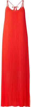 By Malene Birger Obbo Pleated Crepe Maxi Dress - Orange