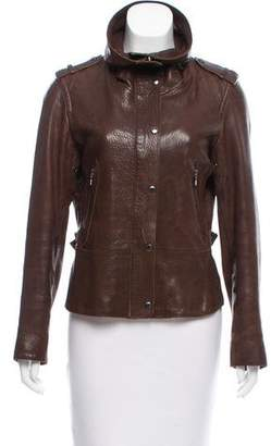 Andrew Marc Leather Zip-Up Jacket