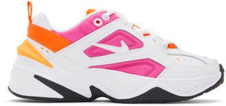 Nike White and Pink M2K Tekno Sneakers
