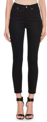 Alexander McQueen Mid-Rise Corded-Tux Side Skinny Jeans