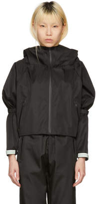 Prada Black Hooded Track Jacket