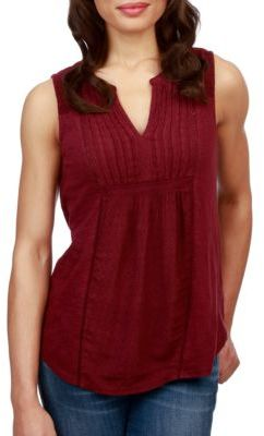 Lucky Brand Solid Embroidered Top $59.50 thestylecure.com