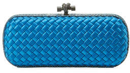 Bottega Veneta Knot Satin Elongated Minaudiere Clutch Bag