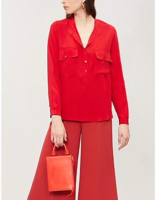 Stella McCartney Ladies Lover Red Estelle Silk-Crepe Shirt