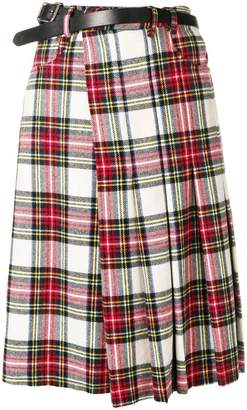R 13 tartan wrap skirt