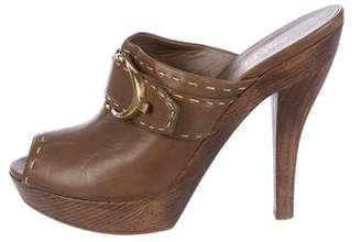Gucci Leather Slide Sandals