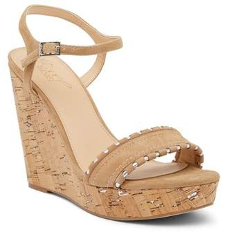 Badgley Mischka Gina Wedge Platform Leather Sandal