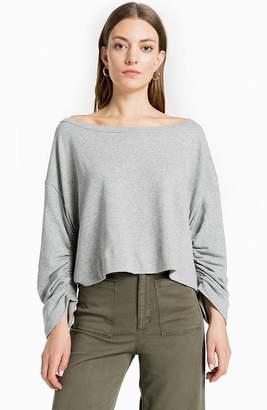 A.L.C. (エーエルシー) - A.L.C. Ember Boat-Neck Ruched-Sleeve Sweatshirt